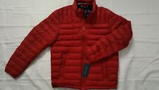 TOMMY HILFIGER MENS NATURAL DOWN PACKABLE LIGHTWEIGHT RED...