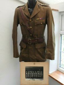 Military WW2 Royal Engineers Complete Tunic Sam Brown Officers Uniform (5482)