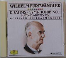 FURTWANGLER (CD) BRAHMS - SYMPHONIE N° 1 - HAYDN - VARIATIONEN