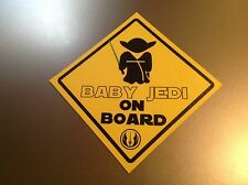 Baby on Board Star Wars 'Baby Jedi on Board'   Waterproof vinyl car Sticker