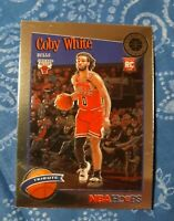 2019-20 NBA Hoops Premium Stock Coby White Tribute RC no.295