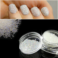 0.6mm AB Glass Caviar Beads Tiny 3D Micro Pixie Mermaid Nails Manicure Crystal