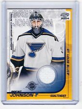 03-04 2003-04 PACIFIC BRENT JOHNSON GAME-WORN JERSEY 32 ST. LOUIS  BLUES