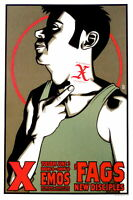 X Poster w/ The Fags & New Disciples 2003 Concert