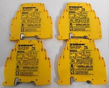(4) Turck MZ60A Shunt Diode Safety Barriers 9V 75Ω