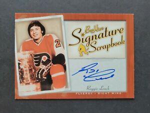 Reggie Leach signed Philadelphia Flyers 2006 Bee Hive Scrapbook Hockey Card