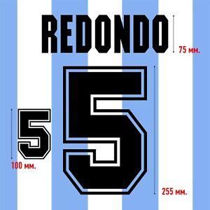 Redondo 5. Argentina Home football shirt 1994 FLOCK NAMESET NAME SET PRINT