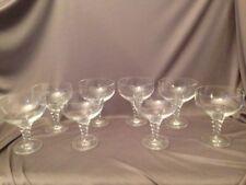 VINTAGE Set of 8 Thomas HOLIDAY Crystal Champagne Sherbert Glasses Acid Marked