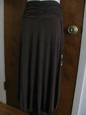 BCBGeneration Women's Brown Rayon Detailed Skirt/StrapTop Size Large NWT