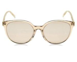 Max Mara Twist Nude Brown Gradient Mirrored Lens Round Large Sunglasses New