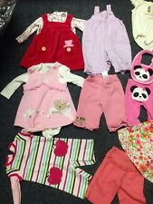 Huge Lot Baby Girl Clothes Gymboree Hula Girl Carters Newborn To 6 Mo Mix Bear