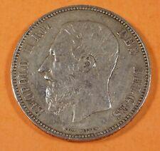 1867  BELGIUM 5 FRANCS - Silver