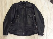 Ladies Black Leather Embossed Harley-Davidson Jacket~Small~Excellent Condition