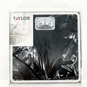 Taylor Dial Scale Black White Up To 300lbs Bath Scale Weight 10 in Model #2020BT