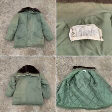 PARKA BRAND - Vtg Military Army Green ZIP Good Quilted Winter Coat, Men's LARGE