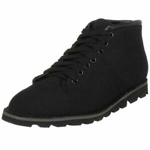 T.U.K Womens A7912 Black Canvas Ankle Boots Lace Up Sizes 4 - 7 High Top