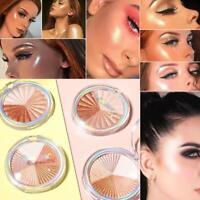 Highlighter Powder Face Iluminator Makeup Professional Palette Contour Glit U4I5