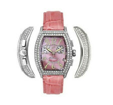 $4900 ELINI NEW YORKER LADIES DIAMOND WATCH MOTHER of PEARL FACE