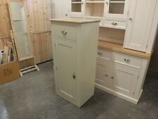 BUCKINGHAM PAINTED 1 DOOR CUPBOARD - SOLID OAK TOP- BESPOKE- OFF WHITE
