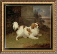 "Old Master-Art Antique Oil Painting animal Portrait dog on canvas 30""x30"""