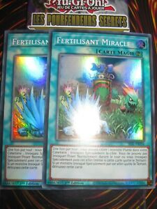 YU-GI-OH! PLAYSET (LOT DE 2) SUPER RARE FERTILISANT MIRACLE SESL-FR056 NEUF ED 1