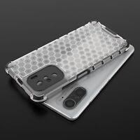 For Xiaomi POCO F3 /Mi 11i, Shockproof Matte Honeycomb Armor Soft Case Cover