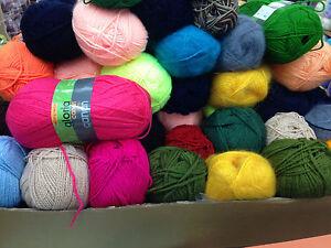 JOB LOT 18 odd balls of hand knitting WOOL yarn SALE NEW stock clearance #11