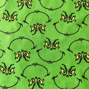 FQ DR SEUSS GRINCH CHRISTMAS POLYCOTTON FABRIC CHARACTER