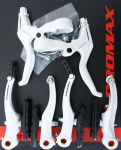 V-Brake Set For Front And Back Wheel Complete White