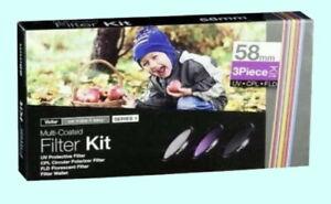 Vivitar 58 mm Series 1 3-Piece Multi-Coated Filter Kit New VIV-FK3-58