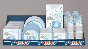 Blue Umbrellaphants Baby Shower Boy Party Decorations Tableware, Games