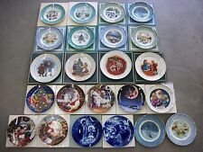 Avon Christmas Plate Collection Lot of 23 Avon Products 73 - 84, 95 - 01 + More