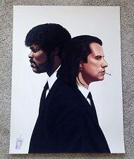 Mike Mitchell The Hitmen Pulp Fiction Portrait Art Print Tarantino Vincent Jules