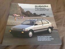 1987  Subaru Justy USA Market Brochure Catalog Prospekt