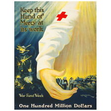 Keep This Hand of Mercy at Its Work War Poster Deco FRIDGE MAGNET 1918 Red Cross