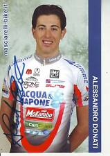 CYCLISME carte cycliste ALLESANDRO DONATI équipe ACQUA SAPONE signée