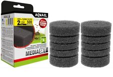 Aquael TURBO 500 aquarium filter spare sponge 2 pack