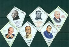 Famous Lepidopterists Butterflies Science 6 diamond-shape MNH stamps set