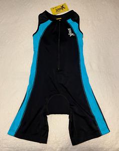 Sparx Womens Size M Triathlon Suit Wet Racing Cycling Swim Run Padded Bib Short