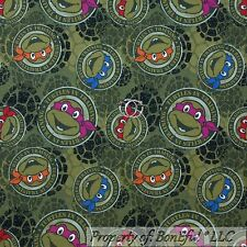 BonEful FABRIC FQ Cotton Jersey KNIT Green Teenage Mutant Ninja Turtle Shell Boy
