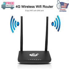 4G Wireless Wifi Router 300Mbps Mobile Hotspot With SIM Card Slot US Plug X1V0