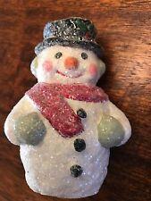 BETHANY LOWE PAPER MACHE CHRISTMAS SNOWMAN