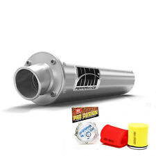 HMF Performance Slip On Exhaust Muffler Brush Pro Design Foam Filter Raptor 700