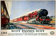 LMS Trains À Vapeur Scot Passes Scot,Chemin De Fer - Moteur,Moyen Métal/