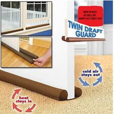 Twin Draft Door - Window Guard- Simply Slides On-Color / Brown Free Shipping