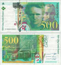 BILLET 500  FRANCS PIERRE ET MARIE CURIE 1994 C 022915041