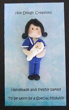Partera/Enfermera Broche, insignia por caliente Creaciones De Masa