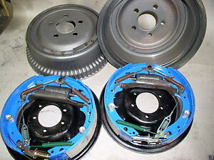 Mopar Rear Drum Brake 11 X 2 complete set New H/D Finned Drums Prem Linings 2.0""