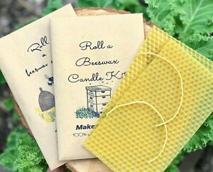 Kids Beeswax candle rolling Kit Eco friendly gift party bag filler /Easter Craft
