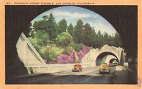 Postcard Figueroa Street Tunnels Los Angeles California